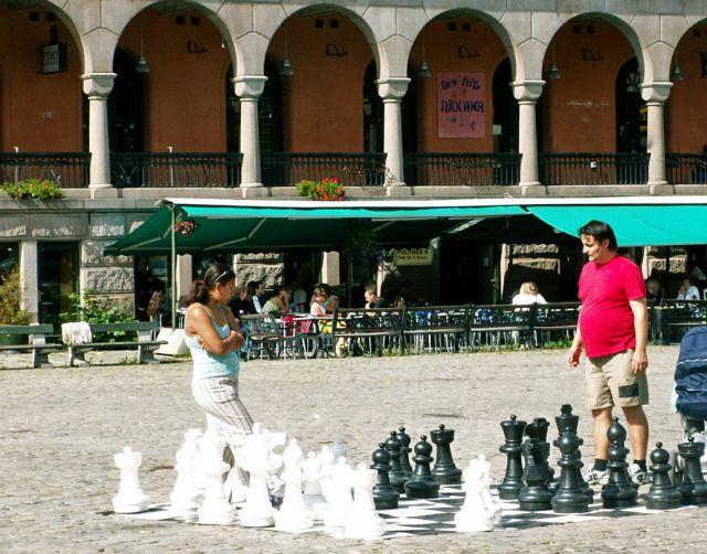 Zdjęcia: Oslo, Skandynawia, Uliczne szachy, NORWEGIA