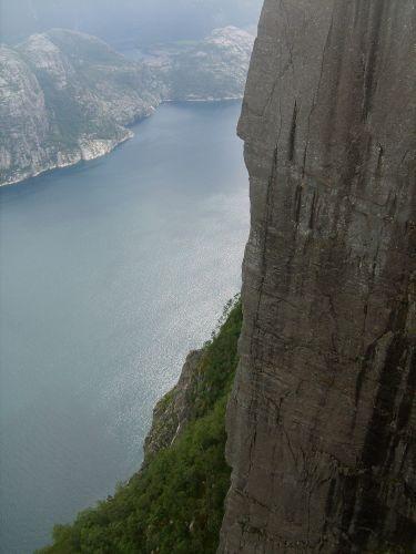 Zdjęcia: Preikestolen, Lysefjorden, południe Norwegii, ściana, NORWEGIA
