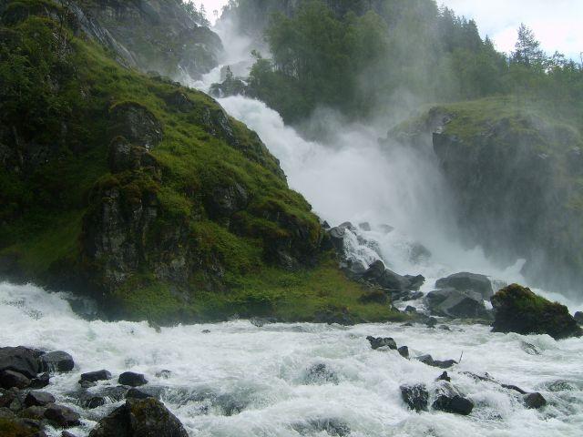 Zdjęcia: Odda, południe Norwegii, Wodospad, NORWEGIA