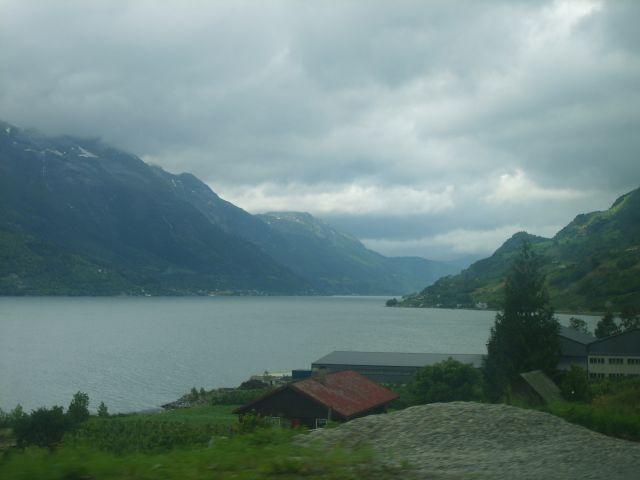 Zdjęcia: okolice Eidfjord, południe Norwegii, Fjord, NORWEGIA