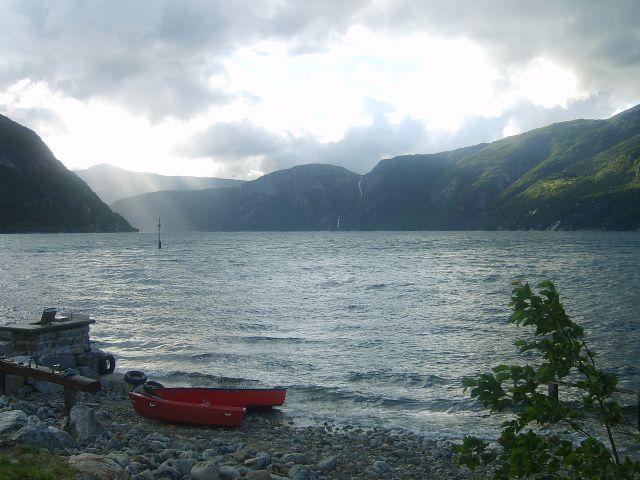 Zdjęcia: Eidfjord, Norwegia, O zachodzie, NORWEGIA