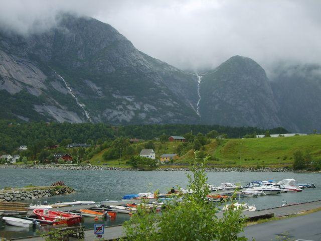Zdjęcia: Eidfjord, Przystań, NORWEGIA