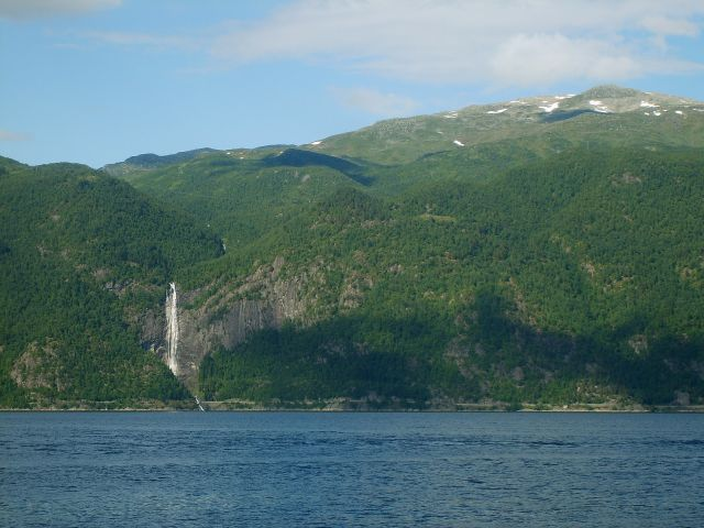 Zdjęcia: Sognefjord, region Sogn og Fjordane, Promem przez Sognefjord3, NORWEGIA
