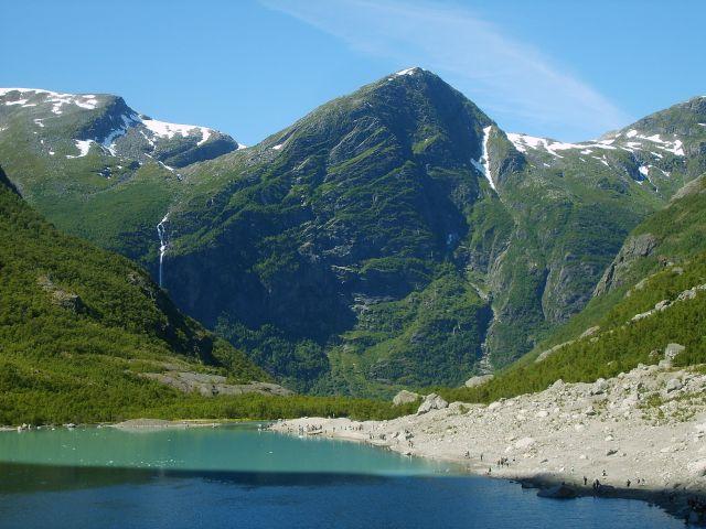 Zdjęcia: Jostedalsbreen Nasjonalpark, Jezioro lodowcowe, NORWEGIA
