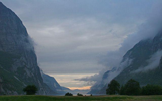 Zdjęcia: Lysefjord, Świt, NORWEGIA
