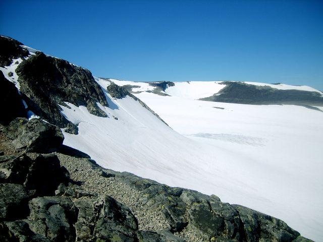 Zdjęcia: w drodze na Goldhoppigen, Jotunheimen, lodowiec, NORWEGIA