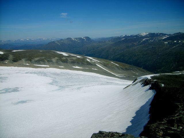 Zdjęcia: w drodze na Goldhoppigen, Jotunheimen, lodowiec2, NORWEGIA