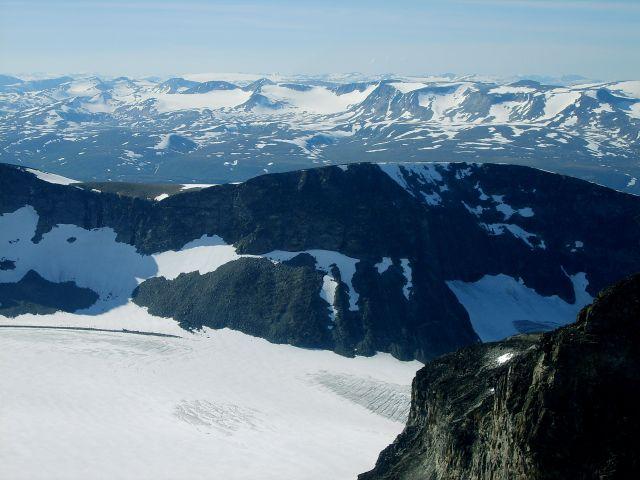 Zdjęcia: Goldhoppigen, Jotunheimen, Widoki ze szczytu, NORWEGIA