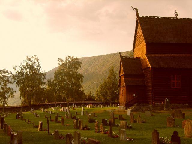 Zdjęcia: Lom, Jotunheimen, Cmentarz, NORWEGIA