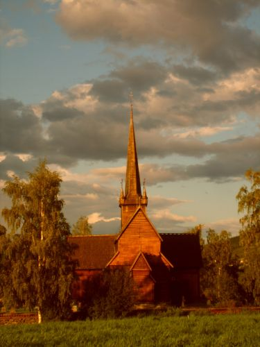 Zdjęcia: Lom, Jotunheimen, Stavkirke w Lom, NORWEGIA