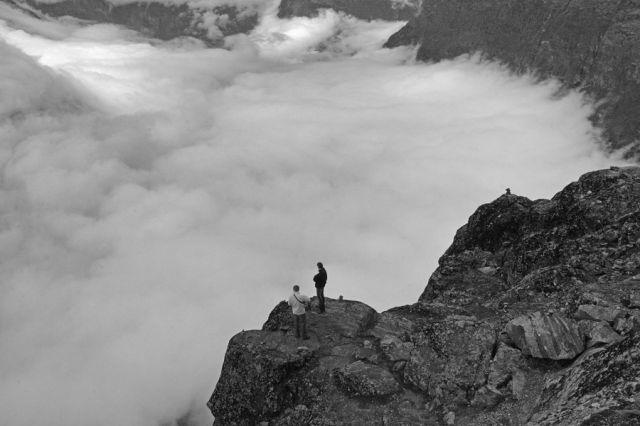Zdjęcia: Dalsnibba 1500mnpm, W chmurach 2, NORWEGIA