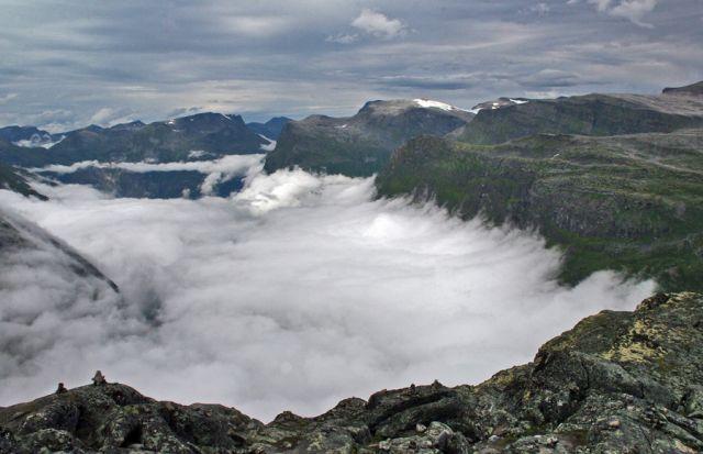 Zdjęcia: Dalsnibba 1500mnpm, W chmurach 4, NORWEGIA