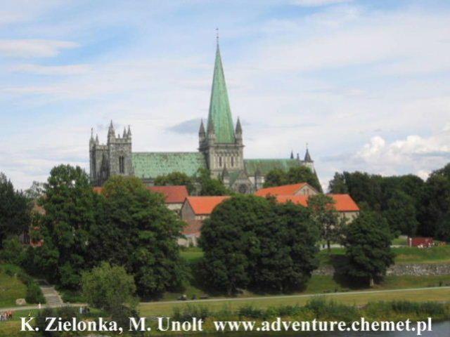 Zdjęcia: Trondheim, katedra Nidaros, Rowerowa wyprawa z Oslo na Nordkapp, NORWEGIA