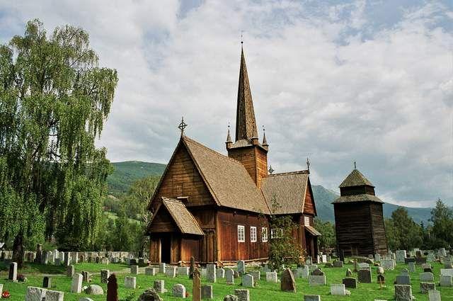 Zdjęcia: Vaga, Stavkirke w Vaga, NORWEGIA