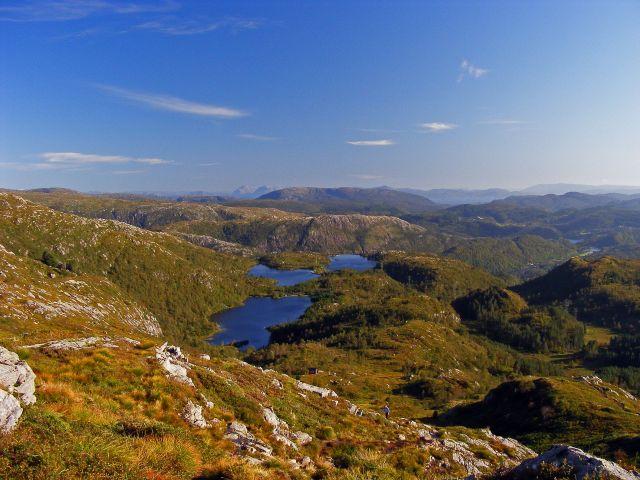 Zdjęcia: Urliken, Bergen, Widok ze szczytu Urliken (643), NORWEGIA