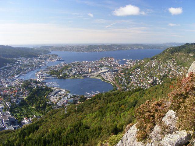Widok na miasto Bergen