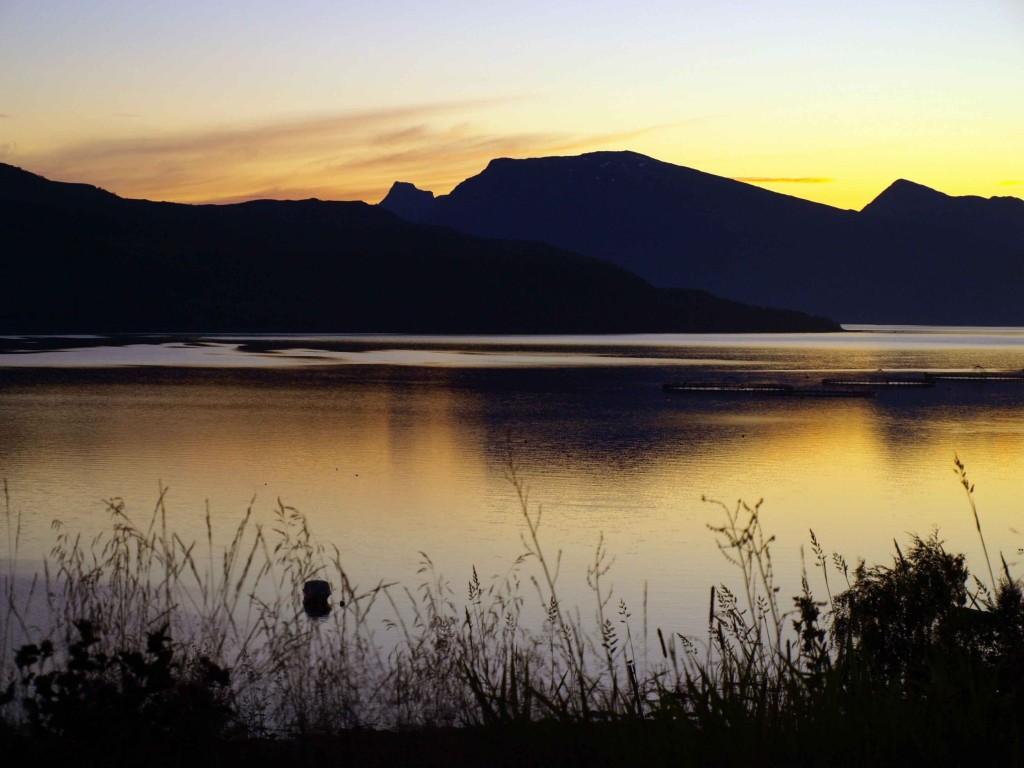 Zdjęcia: Mo i Rana, północna Norwegia, Noc prawie, NORWEGIA