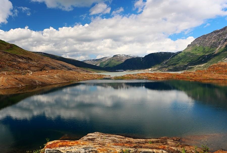 Zdjęcia: Park Narodowy Saltfjellet , koło podbiegunowe, w  drodze na lodowiec, NORWEGIA