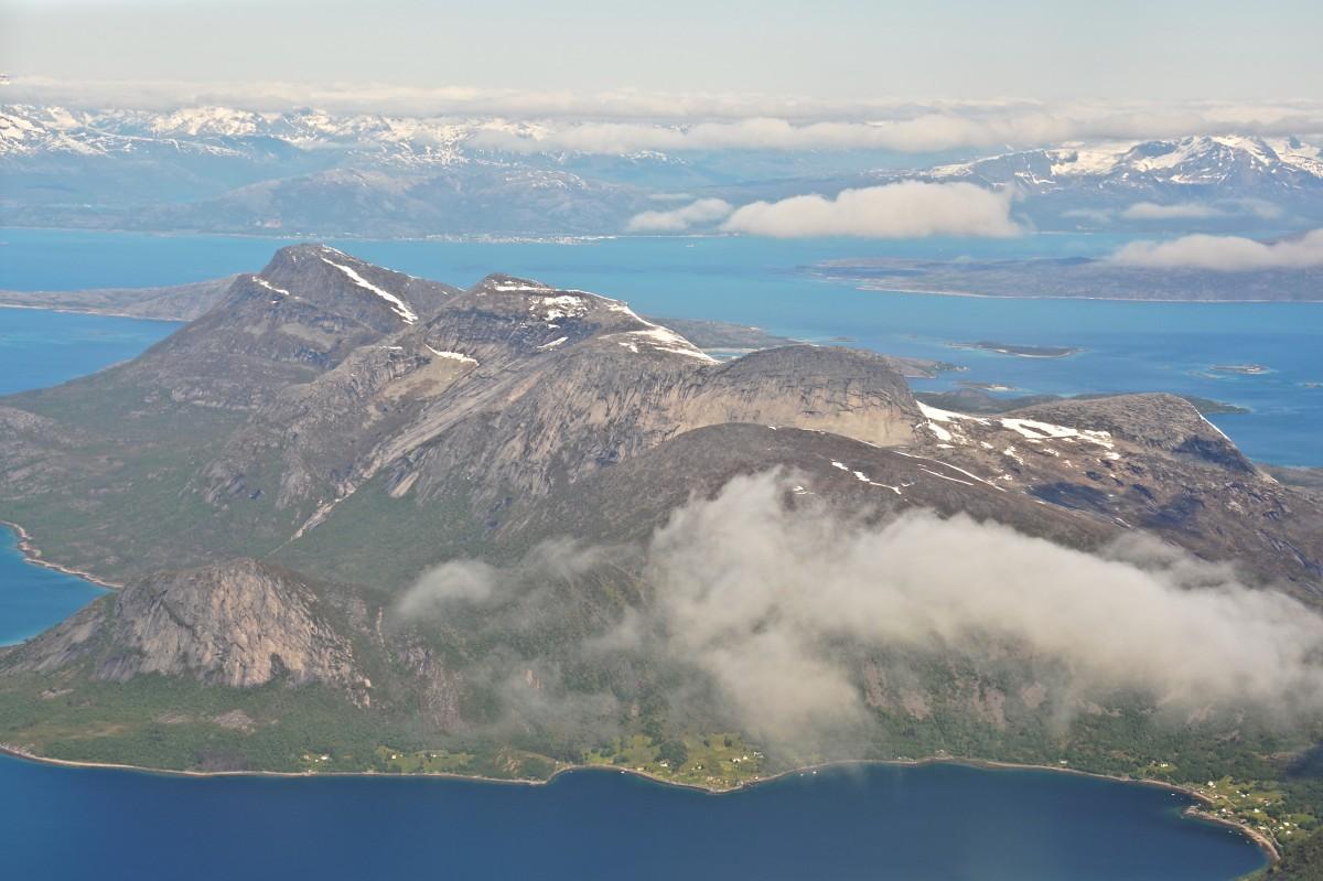 Zdjęcia: Narvik, Nordland, Lofoty z samolotu, NORWEGIA