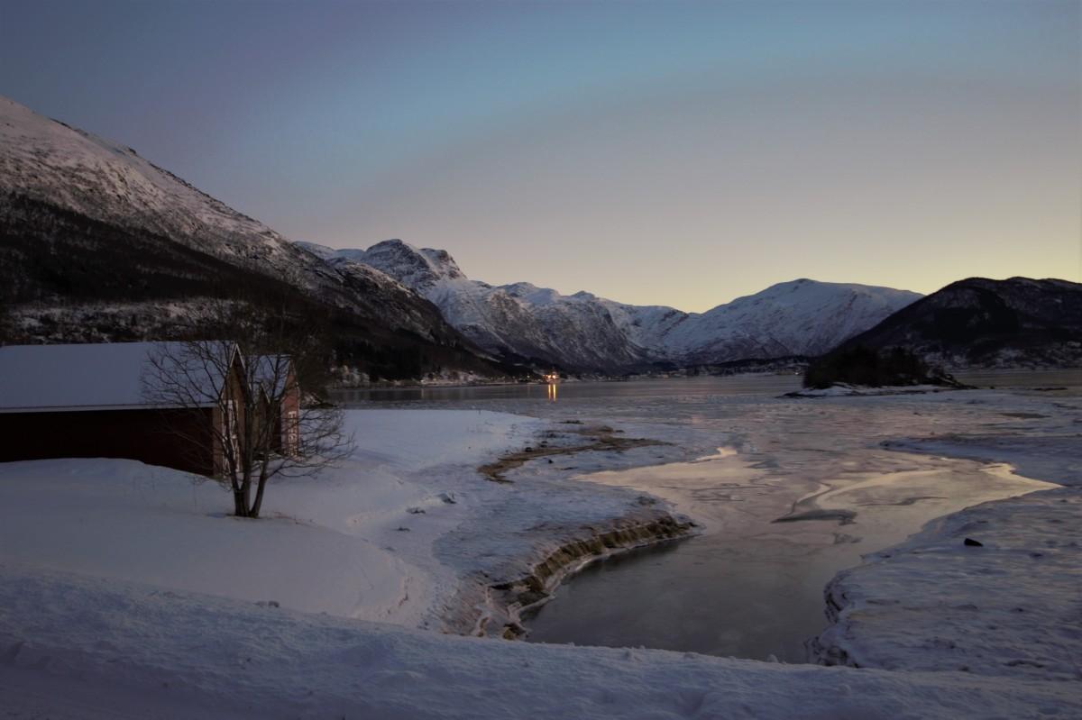 Zdjęcia: Dragvik, Tromso, poranek, NORWEGIA