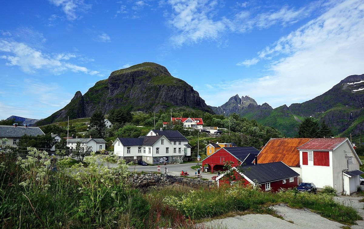 Zdjęcia: Å, Lofoty, Pod szczytem, NORWEGIA