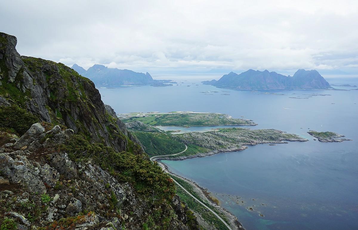 Zdjęcia: Góra Reinebringen , Lofoty, Fiord, NORWEGIA
