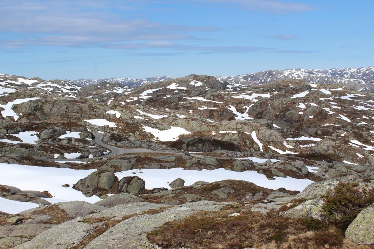 Zdjęcia: Po trasie Stravanger - Kjerag, Krajobraz księżycowy, NORWEGIA