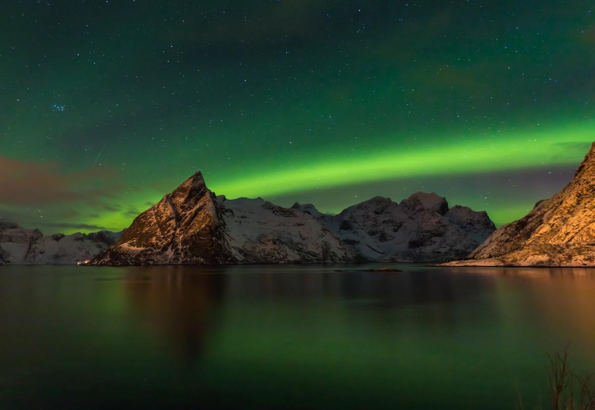 Zdjęcia: Lofoty zachodnie, Lofoty zachodnie, Światła północy, NORWEGIA
