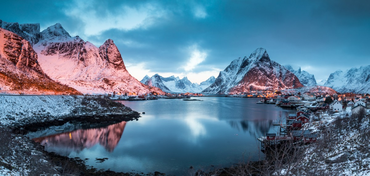 Zdjęcia: Lofoty zachodnie, Lofoty zachodnie, Lofoty zimą, NORWEGIA