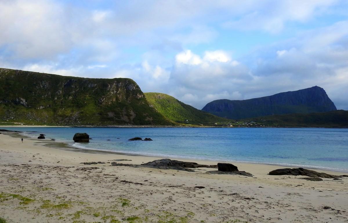 Zdjęcia: Haukland beach, Lofoty, Na plaży, NORWEGIA