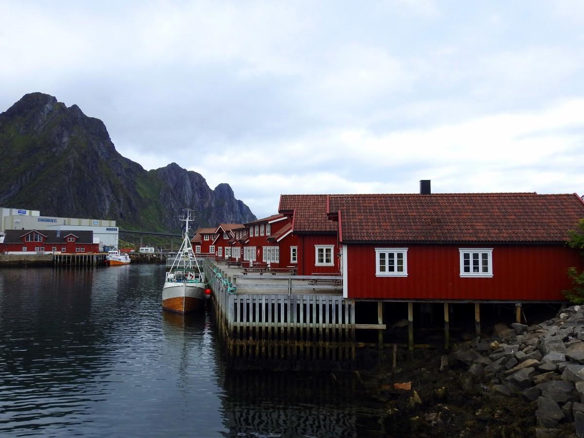Zdjęcia:  Svolvær, Lofoty, Domki, NORWEGIA