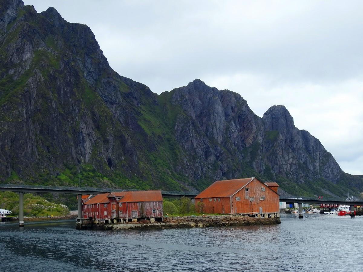 Zdjęcia:  Svolvaer, Lofoty, Most, NORWEGIA