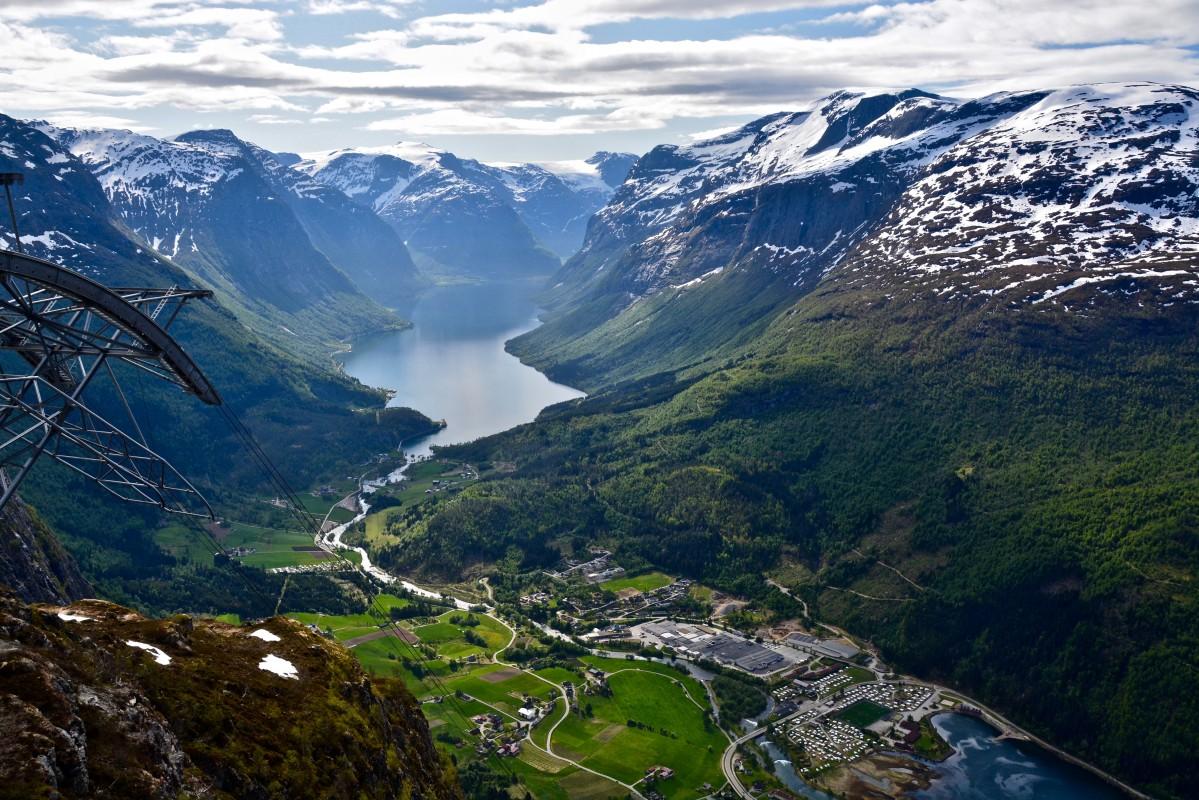Zdjęcia: Loen, Sogn og Fiordane, Kolejka linowa w Loen..., NORWEGIA