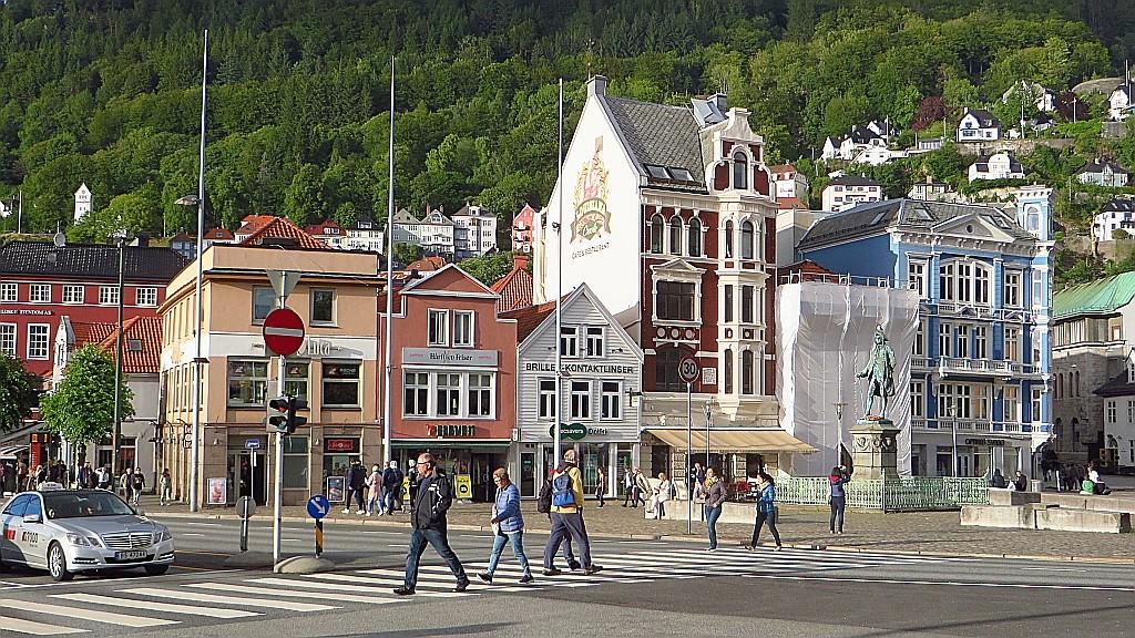 Zdjęcia: Bergen, Norwegia południowo - zachodnia, widok na miasto, NORWEGIA
