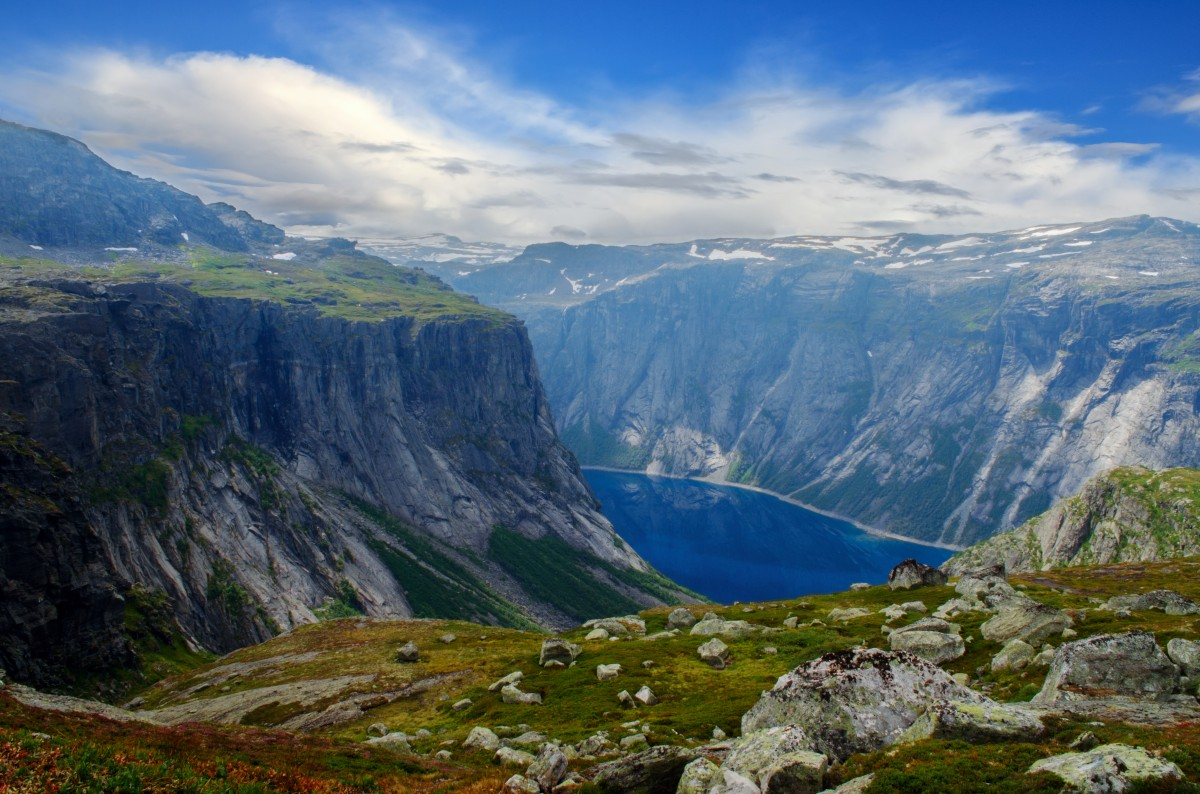 Zdjęcia: Trolltunga, Hardangervidda, Trolltunga, NORWEGIA