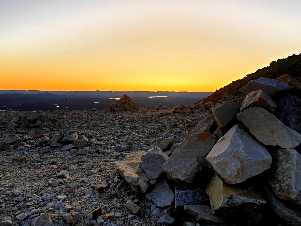 Zdjęcia: Gaustatoppen, Buskerud, Zachód słońca, NORWEGIA