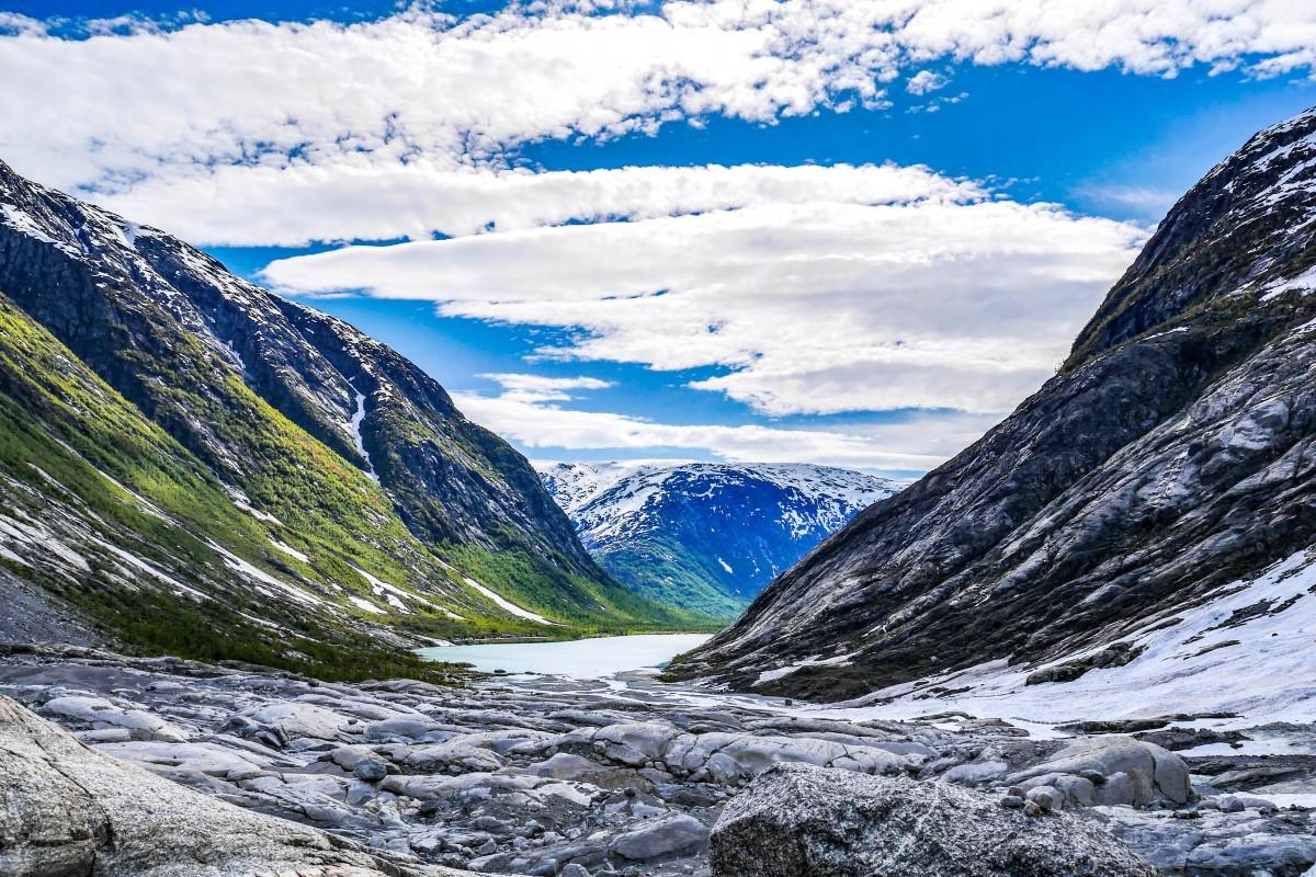 Zdjęcia: Jostedalsbreen, Jostedalsbreen National Park, Widok z lodowca Jostedalsbreen, NORWEGIA