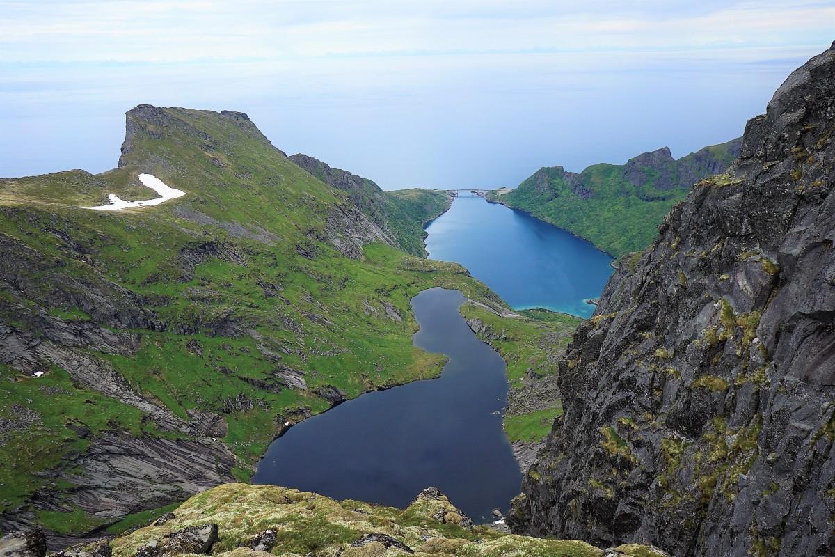 Zdjęcia: Szczyt Munken, Wyspa Moskenesoya, Lofoty, Most, NORWEGIA