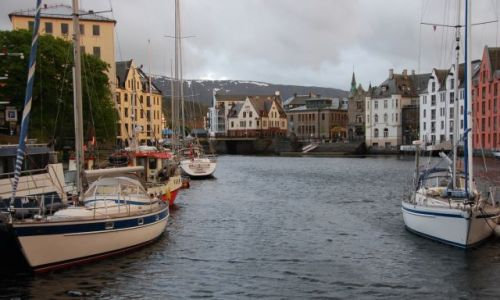 Zdjecie NORWEGIA / Zachodnio Północna Norwegia / Alesund / Norweska Wenecja