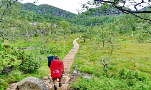 NORWEGIA / Forsland / Lysefjorden / Bagnisty szlak