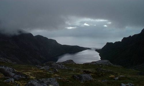 Zdjecie NORWEGIA / Lofoty / Lofoty / malenki fiord