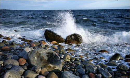 Zdjecie NORWEGIA / -Telemark / Molen / Krajobraz