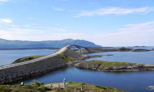NORWEGIA / - / zatoka Hustadvika / Droga Atlantycka - konstrukcyjny projekt XX wieku
