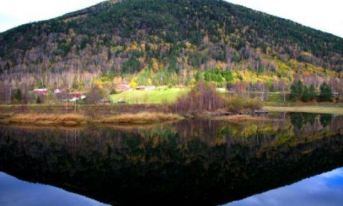 Zdjecie NORWEGIA / - / Na trasie Oslo-Rjukan / Odbicie