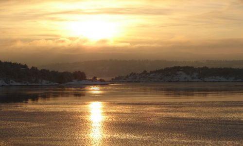 Zdjecie NORWEGIA / brak / Okolice Oslo / Zachód słońca nad fiordami