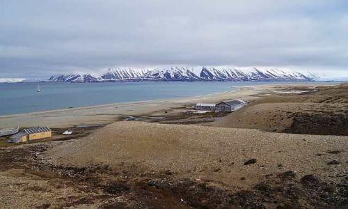 Zdjecie NORWEGIA / Spitsbergen / Calypsobyen / Panorama Calypsobyen