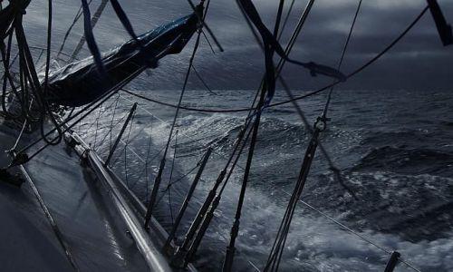 Zdjecie NORWEGIA / Spitsbergen / Morze Norweskie / Wiatr