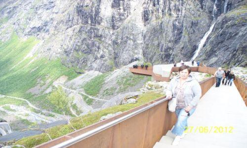 Zdjęcie NORWEGIA / - / Drabina Trolli / Platforma widokowa nad Trollstigen