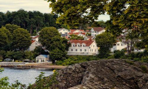 Zdjecie NORWEGIA / - / Drøbak Havn / Widok z portu