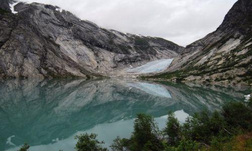 Zdjecie NORWEGIA / Jostedalsbreen / Jęzor lodowy Nigardsbreen / Lodowiec- rezerwuar słodkiej wody